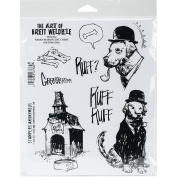 Stampers Anonymous BWC012 Brett Weldele Cling Stamps 18cm x 22cm . - Barks Marvin The Crime Solving Dog