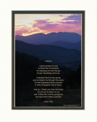 "Personalised Gift for Friend with ""Thank You Prayer for Friend"" Poem. Mts Sunset Photo, 8x10 Double Matted. Wonderful Birthday or Christmas Friendship Gifts."