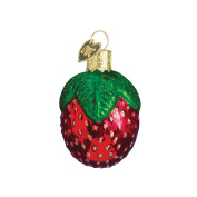 Old World Christmas Sparkling Strawberry Glass Blown Ornament