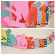 Flamingo Shaped Paper Garland - 4m Long