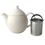 FORLIFE Dew Teapot with Basket Infuser, Natural Cotton, 32 oz/946ml
