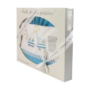 Turquoise linen box set - Motif Animals Cars
