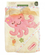 Bobobaby Baby Bath Towel with Hood Termotiv 100% Cotton 76cm x 76cm OKR-ECOM