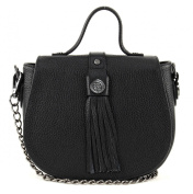 George Gina & Lucy Leather Nown Hippiho Satchel black