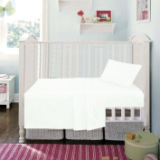 White Superior Egyptian Cotton Fitted Sheet By Sleep & Smile : Cot (60 x 120cm) Size White