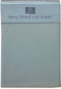 Terry Towelling Baby Fitted Cot Sheet Soft Cotton Rich Cream