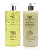 SBC Jasmine And Evening Primrose Gel & Bath And Shower Crème 1000ml DUO