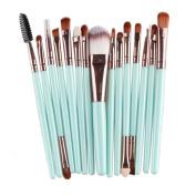 WINWINTOM 15 pcs Makeup Brush Set Tools Toiletry Kit Wool Make Up Brush Set