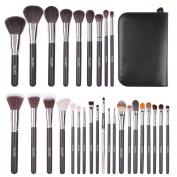 ZaKitane Makeup Brush Set Premium Synthetic Kabuki Cosmetics Foundation Makeup Foundation Eyeliner Blush Contour Brushes for Powder Cream Concealer Brush Kit