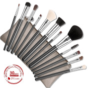 DUcare 12Pcs Makeup Brushes Set Goat Pony Hair Professional With Leather Bags