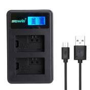 Dual Battery Charger With LCD Screen Display For Camera Sony NP-FW50 Battery