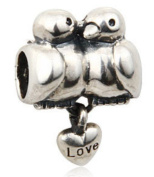 Birds Women's Charm Bead suitable for Pandora Jewellery or similar 100% 925 Sterling Silver