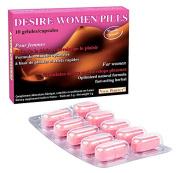 """Desire Women pills"" new formula for women - sexual stimulant aphrodisiac in 10 capsules"