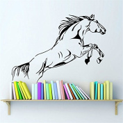 Yanqiao Gallant Horse Wall Sticker for Living Room Sofa Background Creative Decal Removable Vinyl Decal Animal Series Art Home Decorate Size 35.1*47cm ,Black