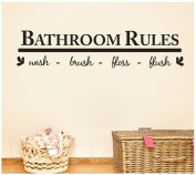 Wall Sticker, Rcool Bathroom Rules Removable Decals Mural Home Decor