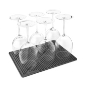 Final Touch Drying Mat Silicone Large Washing Up Drainage Ideal For Up To 12 Wine Glasses - Also Use As A Trivet