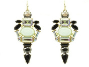 BEYOU Beautiful Things 1 Pair Stainless Steel Earrings Women Gold Plated Cluster from Stones to Shourouk Length