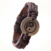 Men Women Wristband - TOOGOO(R)Bracelet Tai Chi Ying Yang Men Women Wristband