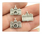 6pcs 15*14mm antique silver plated camera charms