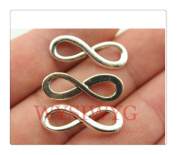 6pcs 23*8mm antique silver infinity charms