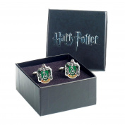 Official Warner Bros. Harry Potter Slytherin Crest Silver Plated Cufflinks