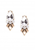 Happiness Boutique Women Crystal Statement Earrings in Gold | Vintage Stud Earrings nickel free