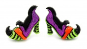 Bluebubble TRICK OR TREAT WICKED WITCH OF THE WEST SHOES STUD EARRINGS WITH GIFT BOX