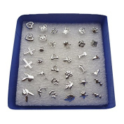 Allergy Earring - TOOGOO(R)24Pairs/Set Wholesale Girl Mixed Shape Allergy Earring Stud Pin Lots Fashion (Size