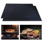 Homgaty 2X BBQ Grill Mat Non-Stick Reusable Baking Pan Liners Grilling Accessories