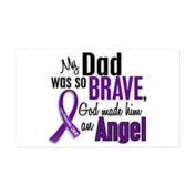 CafePress - Angel 1 Pancreatic Cancer Sticker (Rectangle) - Sticker