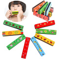 Kasstino Wooden Harmonica Musical Instrument Educational Toy Kid Child Colourful Xmas Gift