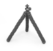 XSories Bendy Monochrome Flexible Tripod with 0.6cm Universal Mount for Digital and Action Sports Cameras - Dark Grey