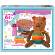 Childrens Easy Knit Your Own Toy Teddy Bear Cat Knitting Craft Art Kit Set