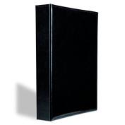 Album for 400 postcards, black, with 50 integrated clear sheets