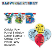 Official Paw Patrol Birthday Banner + Official Paw Patrol Balloons