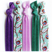 Bohemian Jewellery Hairbands Peacock - Luxury Kink Free Pony Tail Holders