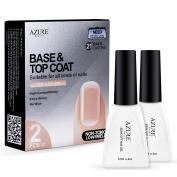 Azure Beauty Shellac Top Coat Base Coat Gel Nail Polish Starter Kit Gift Set
