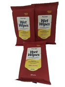 Pure-Aid On The Go Wet Wipes-Gentle for Hand & Face Cleansing-Antibacterial Formula Moisturiser-Total 90 Wipes