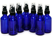 60ml Cobalt Blue Bottle with Black Sprayer - 12 pack