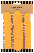 Party Partners Design Circle Ribbon Gift Wrap Accent or Wall Decoration, Orange