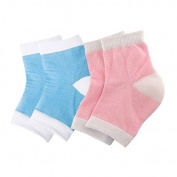Goege Open Toe Gel Moisturising Heel Socks For for Dry Hard Cracked Heel Recovery,Pack of Two