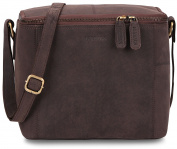 LEABAGS Kokomo Toiletry Bag of Genuine Leather in Vinatge Look