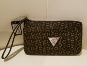 Guess Wristlet Cosmetic/ Travel Bag, Natural