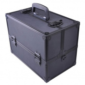 AMPERSAND SHOPS Professional Makeup and Cosmetic Hardcase Organiser Bag with Shoulder Strap