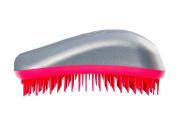 Dessata Detangling Hairbrush Silver- Hot Pink