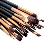Summifit 20 Pcs Makeup Brush Set Pro Toiletry Kit Eyeshadow Powder Foundation Eyeliner Lip Mineral Makeup Tools