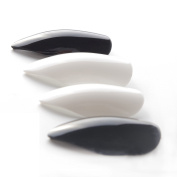 24 PCS Charming Solid Colour Glossy Concise Art Fake Nails French Black White Pointed Designed Nails