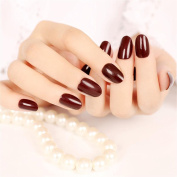 Rongcheng 24 sheet Nail Stickers Acrylic French Full Cover False Nails Kit For Women Lady Girls