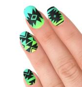 Aztec nail stencil vinyls southwestern 24 pk