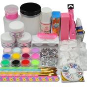 Coscelia Acrylic Nial 12 Colour Acrylic Powder Liquid Nail Art Manicure Set